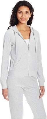 Juicy Couture Black Label Women's Velour Robertson Jacket, Pitch, L