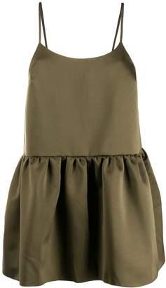 Semi-Couture Semicouture peplum spaghetti strap camisole