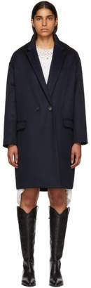 Isabel Marant Navy Filipo Coat