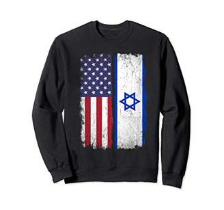 Israel American Flag Shirt Gift Israel USA Pride