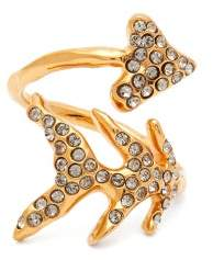 Givenchy Crystal Embellished Arrow Ring - Womens - Gold