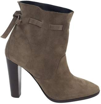 Hermes Brown Suede Ankle boots