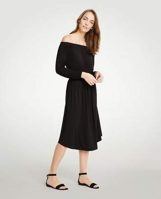 Ann Taylor Petite Off The Shoulder Smocked Waist Dress