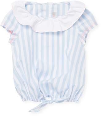 Billieblush Little Girl's Stripe Tie Top