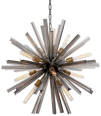 "Viz Glass 30"" Eos Chandelier - Pearl Black"