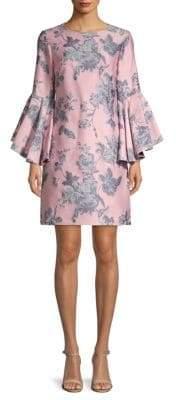 Freya Floral Bell-Sleeve Dress