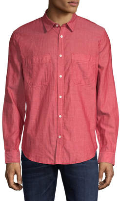 7 For All Mankind Men's Button-Down Shirt