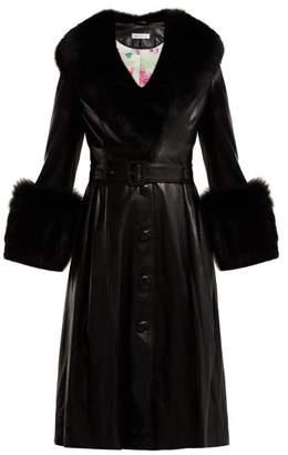 Saks Potts - Foxy Belted Leather Coat - Womens - Black