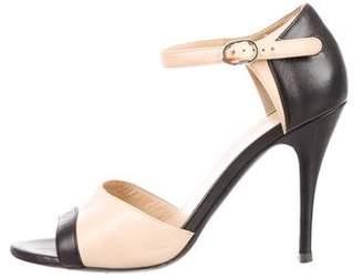 Chanel CC Bicolor Leather Sandals