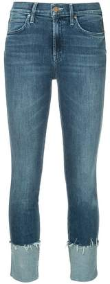 Mother large cuff cropped jeans