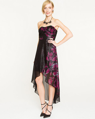 Le Château Floral Chiffon High-Low Dress