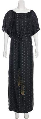 Thomas Wylde Silk Maxi Dress