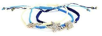 Studio Set of 3 Sea Inspired Crocheted Bracelets