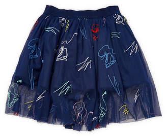 Stella McCartney Darci Embroidered Skirt