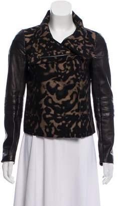 Diane von Furstenberg Marvela Leather-Paneled Jacket