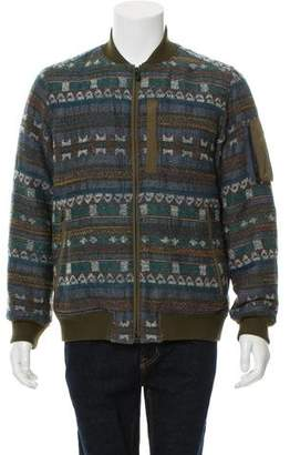 White Mountaineering Tweed Bomber Jacket