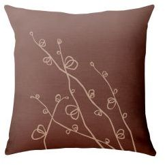 Paper Cloud Twig Sprouts Pillow