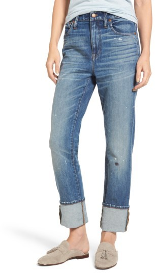 Women's Madewell 11-Inch The High-Rise Slim Boyjean: Painter Edition