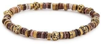 LINK-UP Lava Rock & Brass Bead Bracelet
