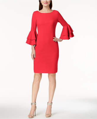 9b5f137c22a Calvin Klein Tiered-Bell-Sleeve Sheath Dress