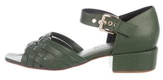 Rachel Comey Braided Leather Square-Toe Sandals