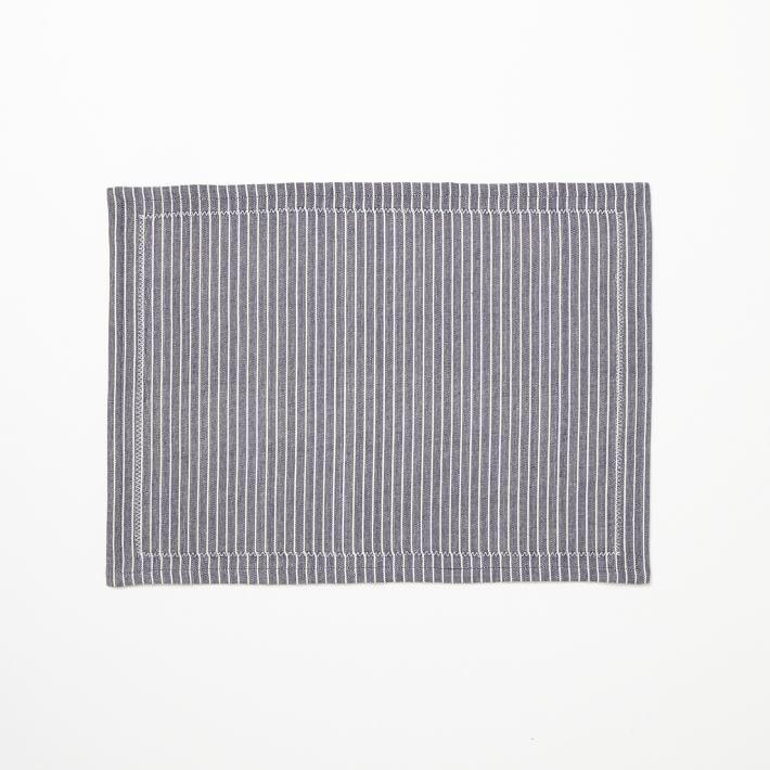 west elm Woven Mini Stripe Placemat Set