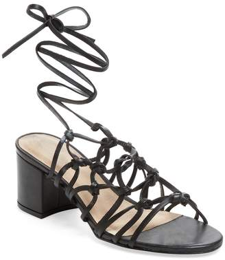 Maiden Lane Women's Simple Leather Lace-Up Sandal