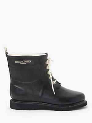 Ilse Jacobsen Hornbæk Short Rubber Lace Up Boots