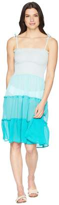Bleu Rod Beattie Smocked Bandeau Tiered Dress Cover-Up Women's Swimwear