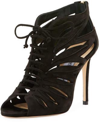 Jimmy Choo Keena High Dressy Sandals, Black