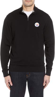 Cutter & Buck Pittsburgh Steelers - Lakemont Regular Fit Half Zip Sweater