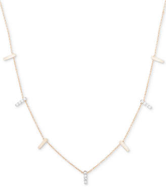 Wrapped Diamond Drop Collar Necklace (1/4 ct. t.w.) in 10k Gold, Created for Macy's