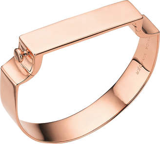 Monica Vinader Signature 18ct rose gold-plated bangle