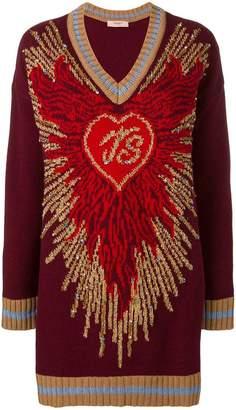 Twin-Set intarsia knit dress