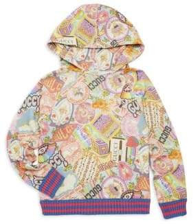 Gucci Little Girl's& Girl's Sticker Stamp Hoodie - Size 4