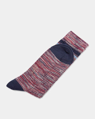 Ted Baker OSTRA Contrast line print cotton socks