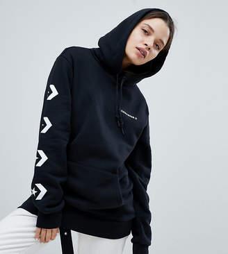 Converse Star Chevron Graphic Pullover Hoodie In Black