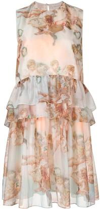 Karen Walker Mariana angel print dress