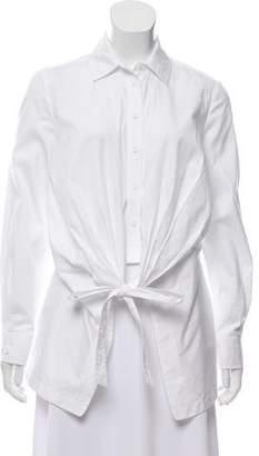 Yigal Azrouel Long Sleeve Button-Up Top