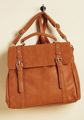 ModCloth Stop, Rock, and Roll Convertible Bag in Cognac $69.99 thestylecure.com
