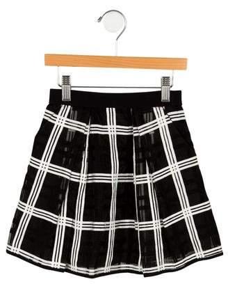 Milly Minis Girls' Plaid Skirt