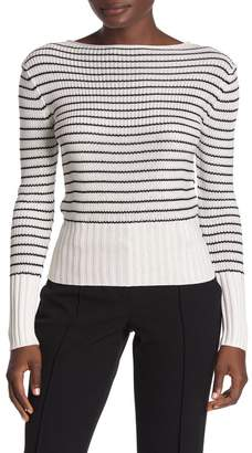 Theory Striped Crew Neck Sweater