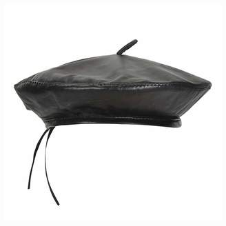 a8a6d6d1906 CrazyTiger Fashion Wild Leather Beret Hat Autumn Winter Retro Solid Color  Female Tide Outdoor Warm Hat