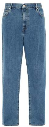 Burberry Stonewashed Relaxed Leg Jeans - Mens - Blue