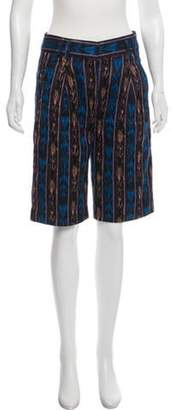 Proenza Schouler Patterned Knee-Length Shorts Black Patterned Knee-Length Shorts