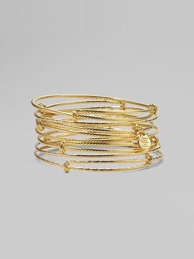 Alex and Ani Textured Expandable Wire Bracelet Set