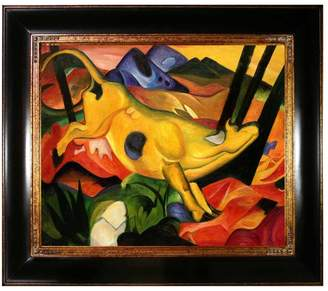 Overstock Art Yellow Cow by Franz Marc (Framed Canvas)