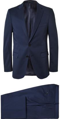 Navy Slim-Fit Stretch-Cotton Suit $795 thestylecure.com