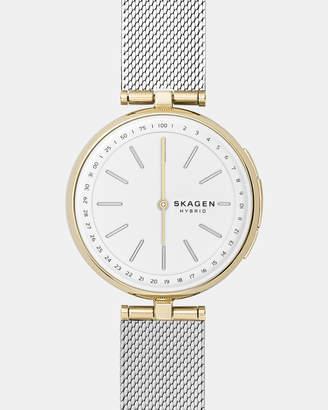 Skagen Signatur Silver-Tone Hybrid Smartwatch