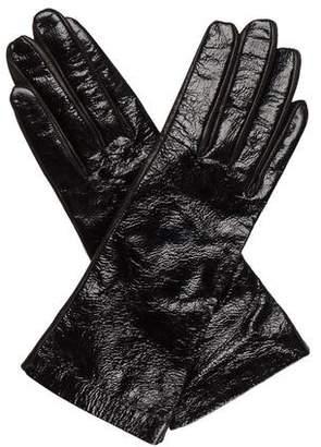 Saint Laurent Patent Leather Long Gloves
